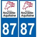 87 Haute-Vienne autocollant