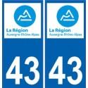 43 Haute-loire sticker