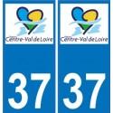 37 Indre et Loire autocollant
