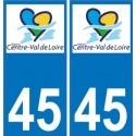 45 Loiret autocollant