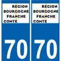 70 Haute-Saone sticker