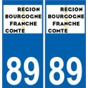 89 Yonne autocollant