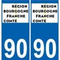 90 Territoire de Belfort autocollant