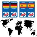 drapeau numéro pays plaque
