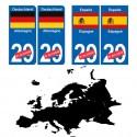 drapeau Europe pays plaque
