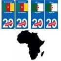 drapeau Afrique pays plaque